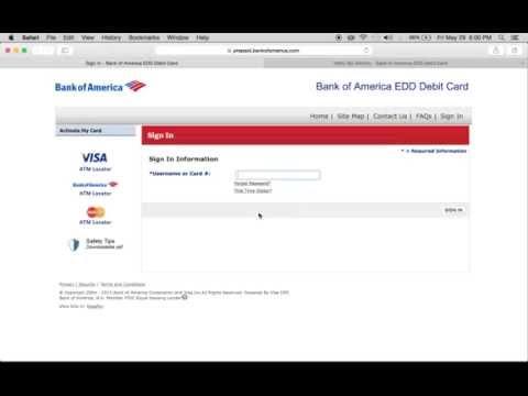 Login Bank of America EDD Debit Card | Sign in