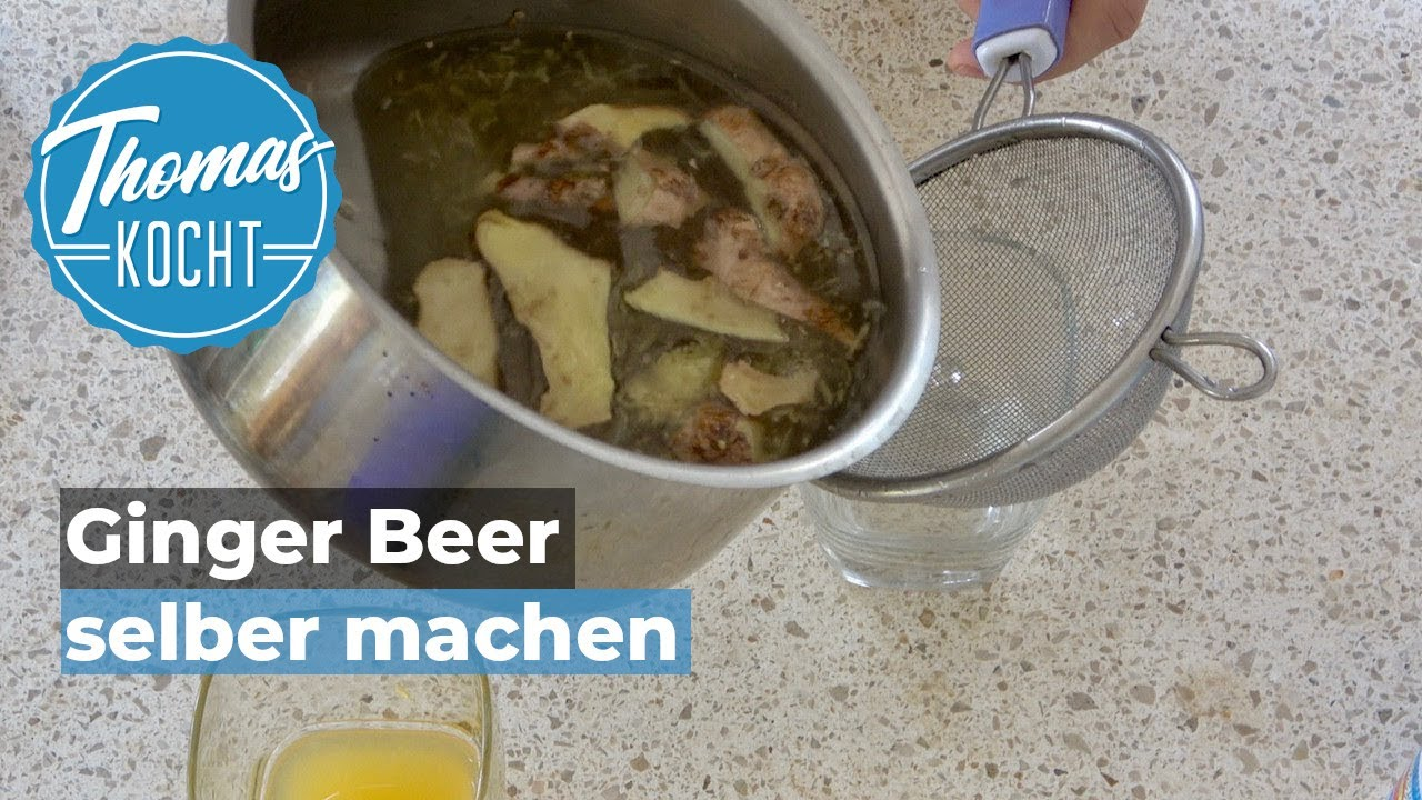 ginger beer selber machen fermentation mit hefe thomas