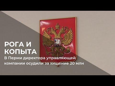 В Перми директора управляющей компании осудили за хищение 20 млн