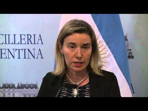 Joint press conference by Federica MOGHERINI and Argentinian Foreign Minister, Susana MALCORRA