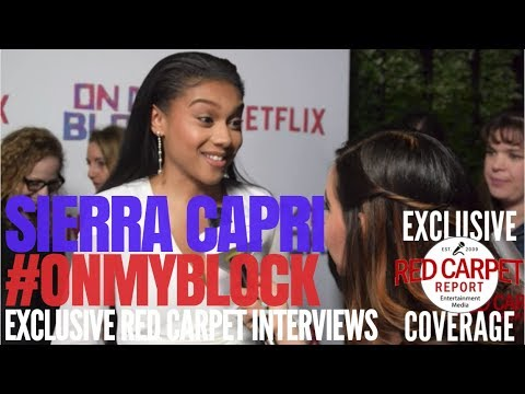 """Sierra Capri interviewed at Premiere of Netflix's coming of age comedy """"On My Block"""" #OnMyBlock"""