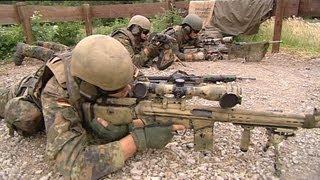 Einsatzausbildung der Scharfschützen mit G82 – Bundeswehr