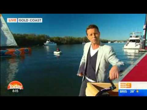Today Show Weather Cross, Free Wheeling, Gold Coast International Marine Expo 2016