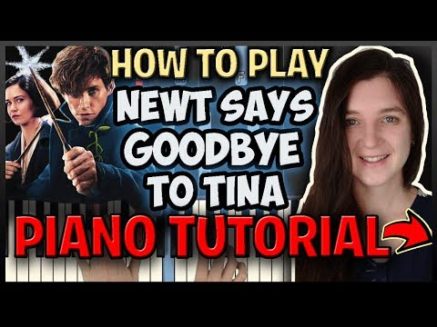 """How To Play """"NEWT SAYS GOODBYE TO TINA"""" By Howard - Easy Piano (Synthesia) [Piano Tutorial] [HD]"""