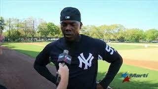 Aroldis Chapman promete una gran campaña con los Yankees para 2018