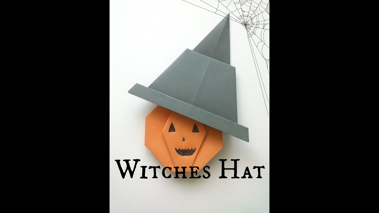 Halloween Origami Witches Hat Tutorial - YouTube - photo#31