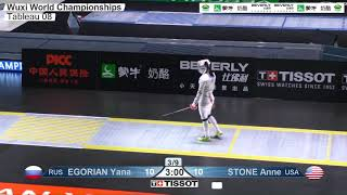 Wuxi 2018 Fencing World Championships ws t08 USA vs RUS
