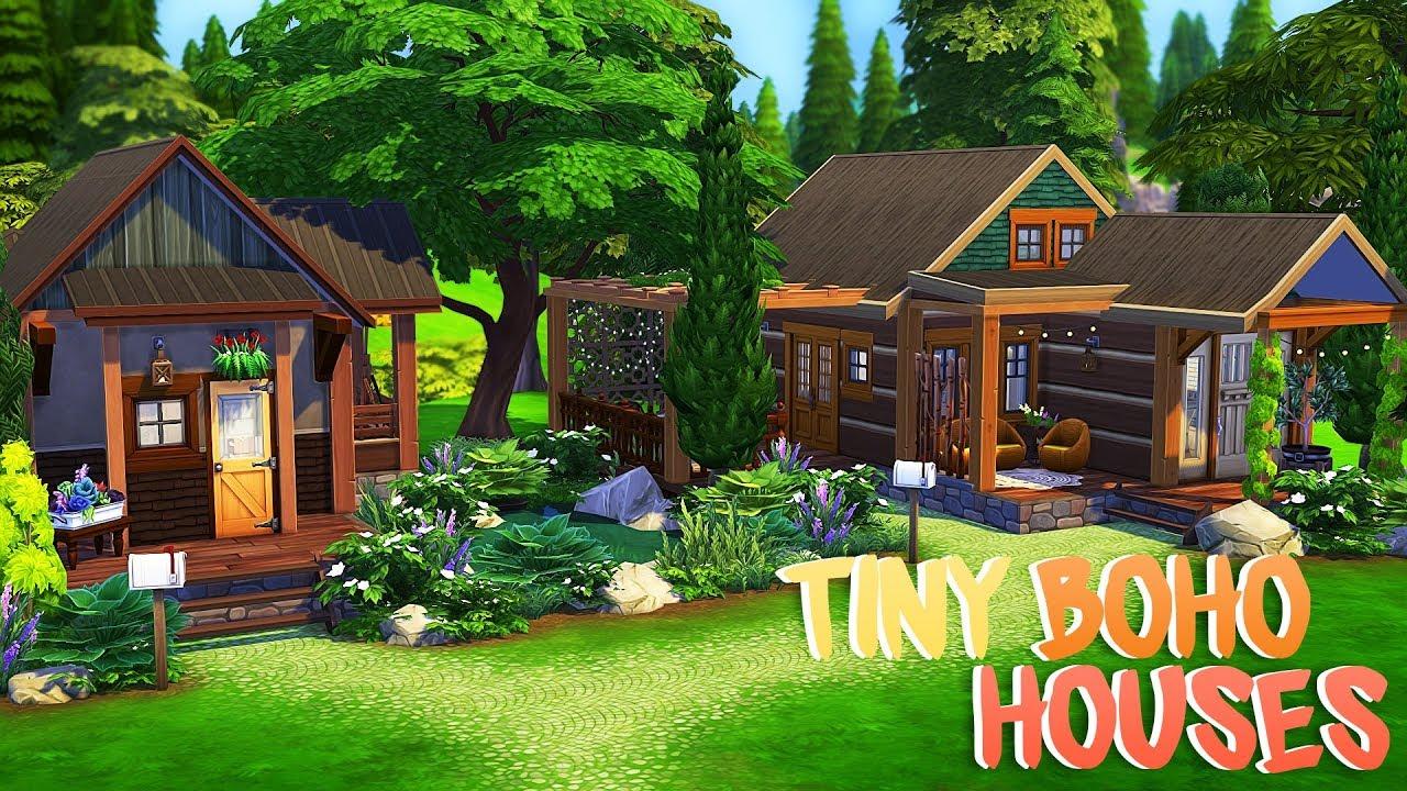 Tiny Boho Houses The Sims 4 Speed Build Youtube