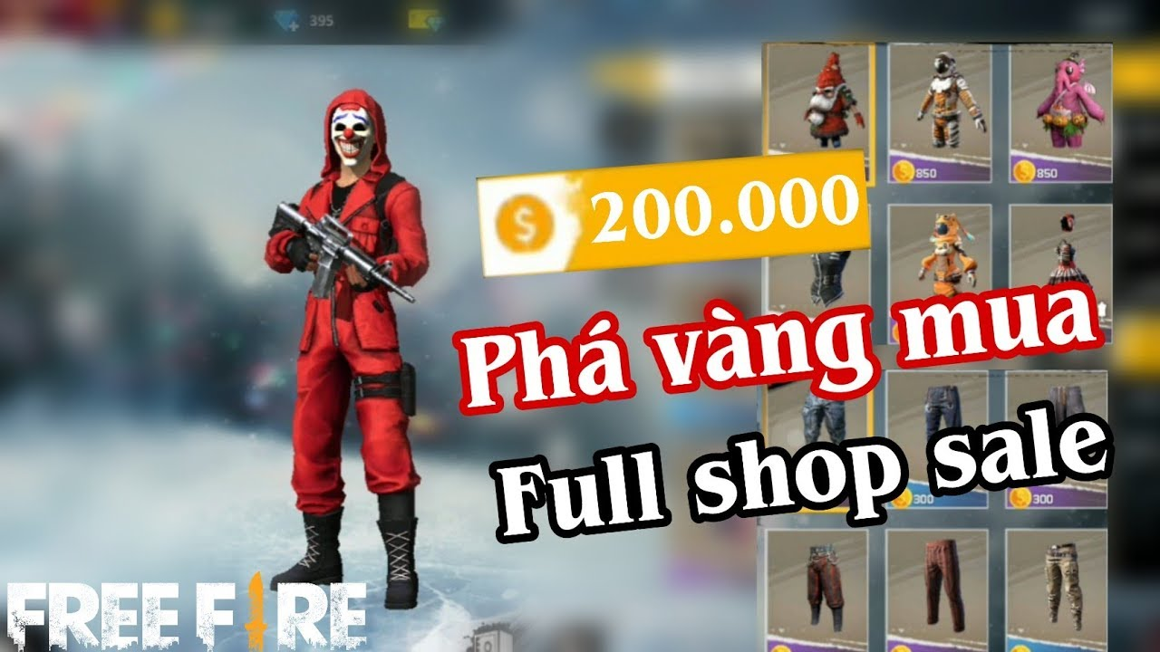 Free Fire | Phá 200.000 Vàng Mua Full Shop Đồ Kim Cương Bán Bằng Vàng | Meow DGame