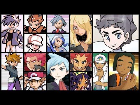 Evolution Of Every Pokémon Champion Battles (1996 - 2016)