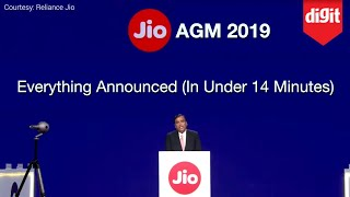 Everything Jio Announced At The Reliance AGM 2019 (In Under 14 Minutes)