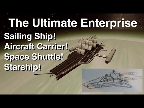 The Ultimate Enterprise - Space Ship + Carrier + Shuttle + Sailing Ship