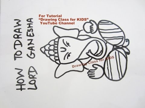 how to draw bal ganesha for kids
