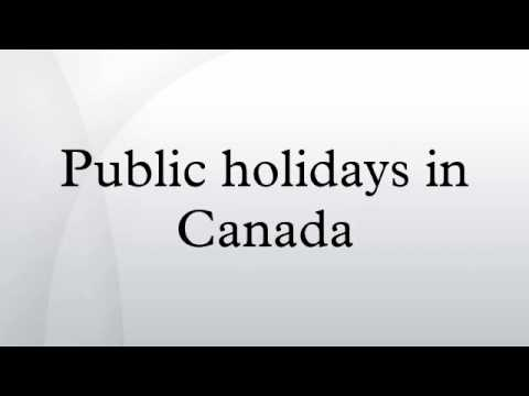 Public holidays in Canada
