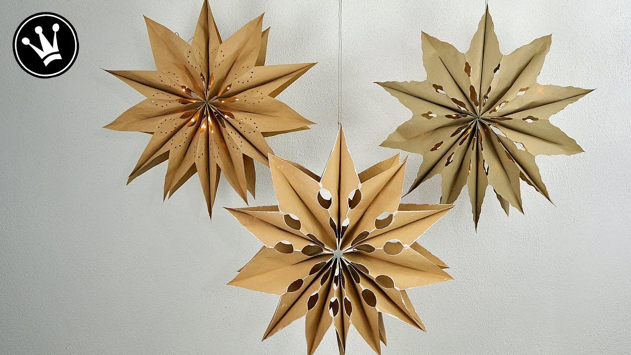 diy weihnachtsdeko xxl sterne basteln i aus biom llt ten. Black Bedroom Furniture Sets. Home Design Ideas
