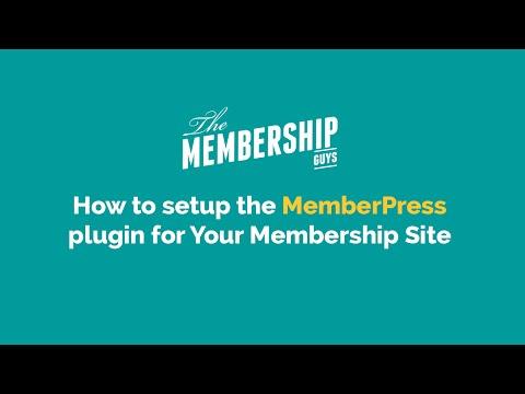 Setting up the MemberPress plugin