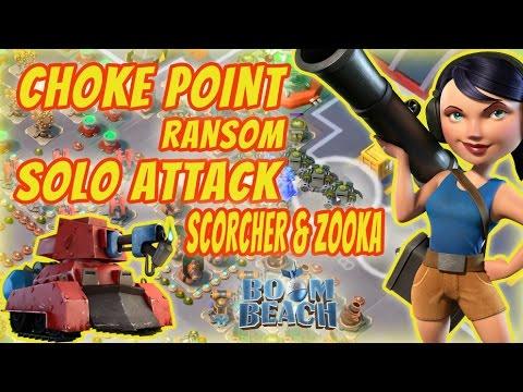 Boom Beach - Operation Choke Point - Ransom (Solo attack scorcher-zooka)