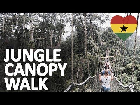 Jungle Canopy Walk | SUPER SCARY !!! | Kakum National Park, Ghana, Africa