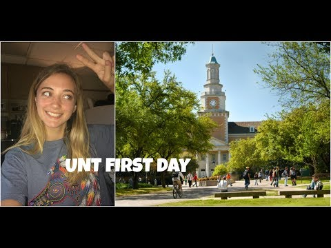 First Day at University of North Texas