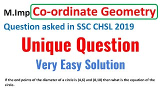 Most Important Co-ordinate Geometry Question asked in SSC CHSL 2019-20 Exam