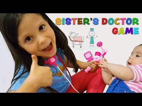 Ceren & Ceylin 'in Doktorculuk Oyunu | Sister's Doctor Game Finger Family Are You Sleeping Phonics
