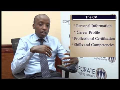 Elements of a Good CV. Apply For Jobs In Kenya