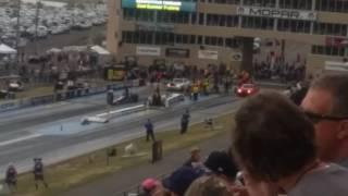 2 2018 Dodge Demons drag racing at Mile Hile Nationals