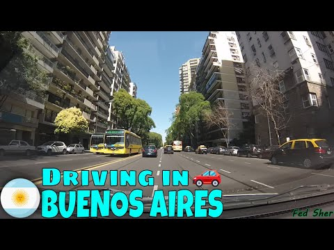 Driving in Buenos Aires (from Palermo to Coghlan)