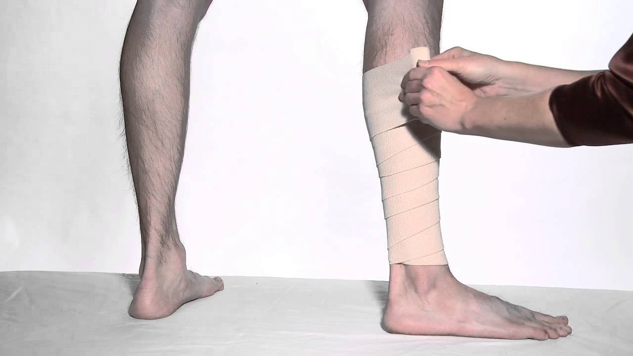 How To Wrap Leg With Ace Brand Elastic Bandages Youtube