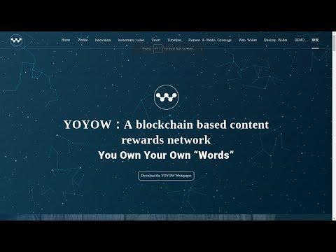 YOYOW:A blockchain based content rewards network