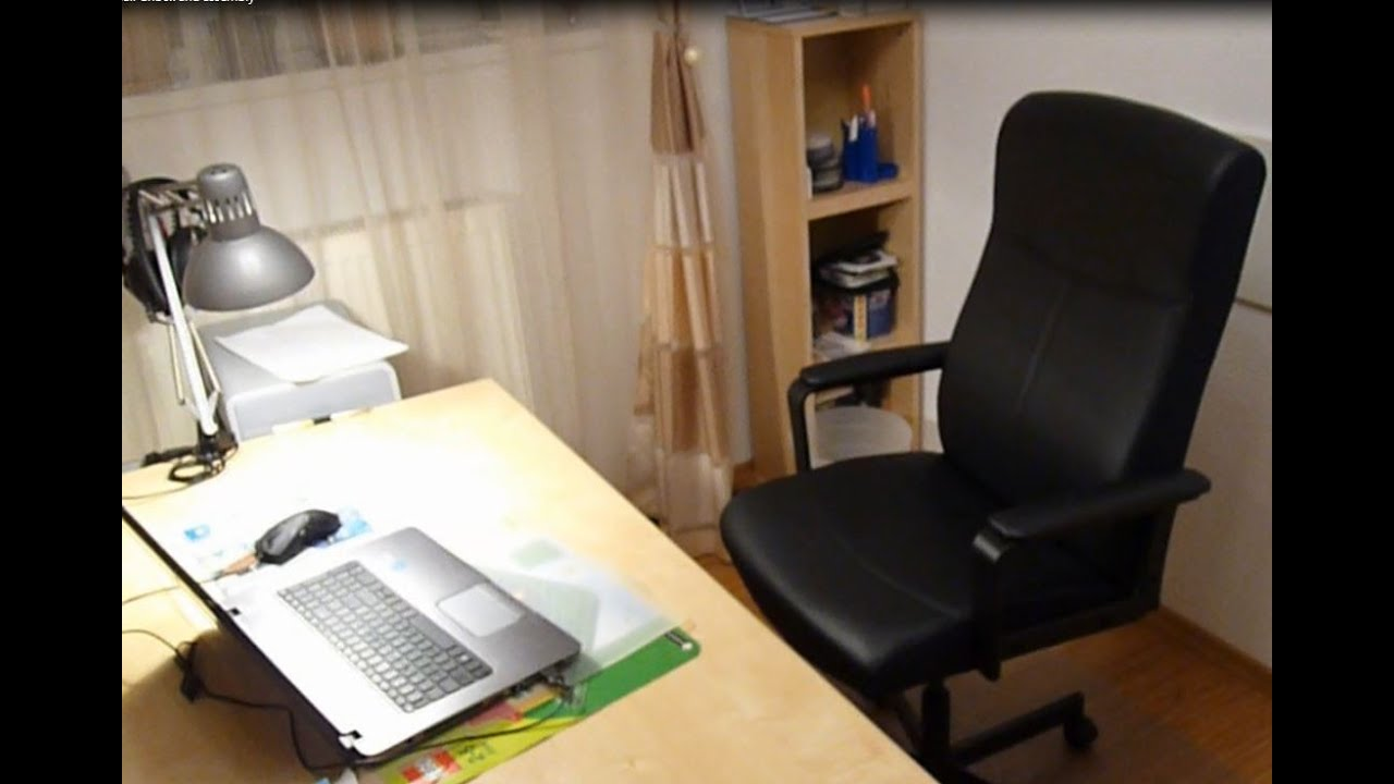 Ikea Malkolm swivel office chair unboxing and assembly YouTube