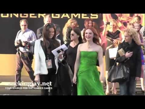 Jacqueline Emerson Signs For  at 'The Hunger Games' World Premiere