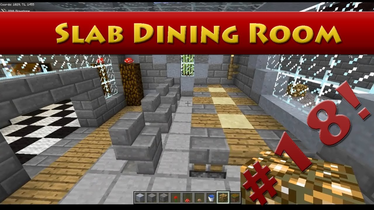 Minecraft tutorials minecraft tutorial 18 how to for Minecraft dining room designs