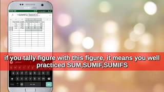 Excel on Mobile SUM/SUMIF/SUMIFS formula use on mobile