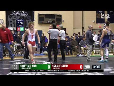 2020 ETR 182 Final - Joey Milano (Spring-Ford) Vs Sam Fisher (Fauquier, VA)