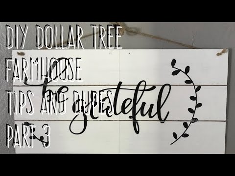 DIY Dollar Tree  Farmhouse  Tips and Dupes  Part 3 Shiplap Sign