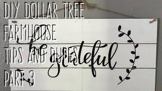 DIY Dollar Tree  Farmhouse  Tips and Dupes  Part 3 Shiplap Sign
