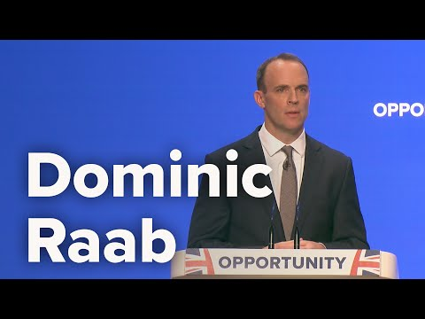 Dominic Raab, Secretary of State for Exiting the European Union - Conservative Party Conference 2018