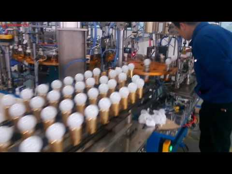 fully-automatic led bulbs assembly line