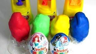 6 Surprise Eggs Play doh - пластилин Play doh и киндер сюрприз. キンダーサプライズビデオ