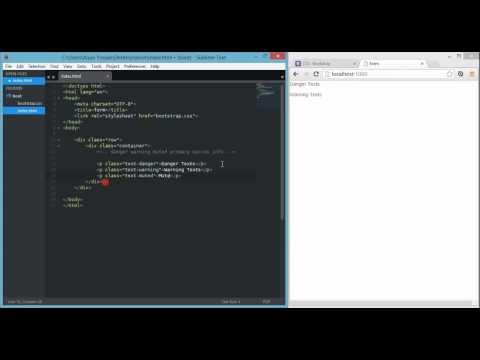 bootstrap 3    contextual text colors   error, success, primary etc   720p