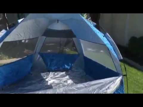 Pacific Breeze Easyup Beach Tent Deluxe Xl Doovi