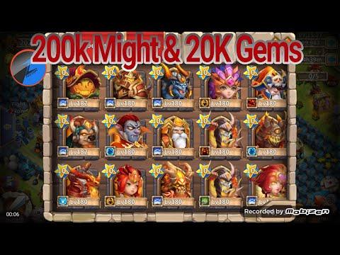 Castle Clash 200K Might Account 13 Devoes 20K Gems For Talents