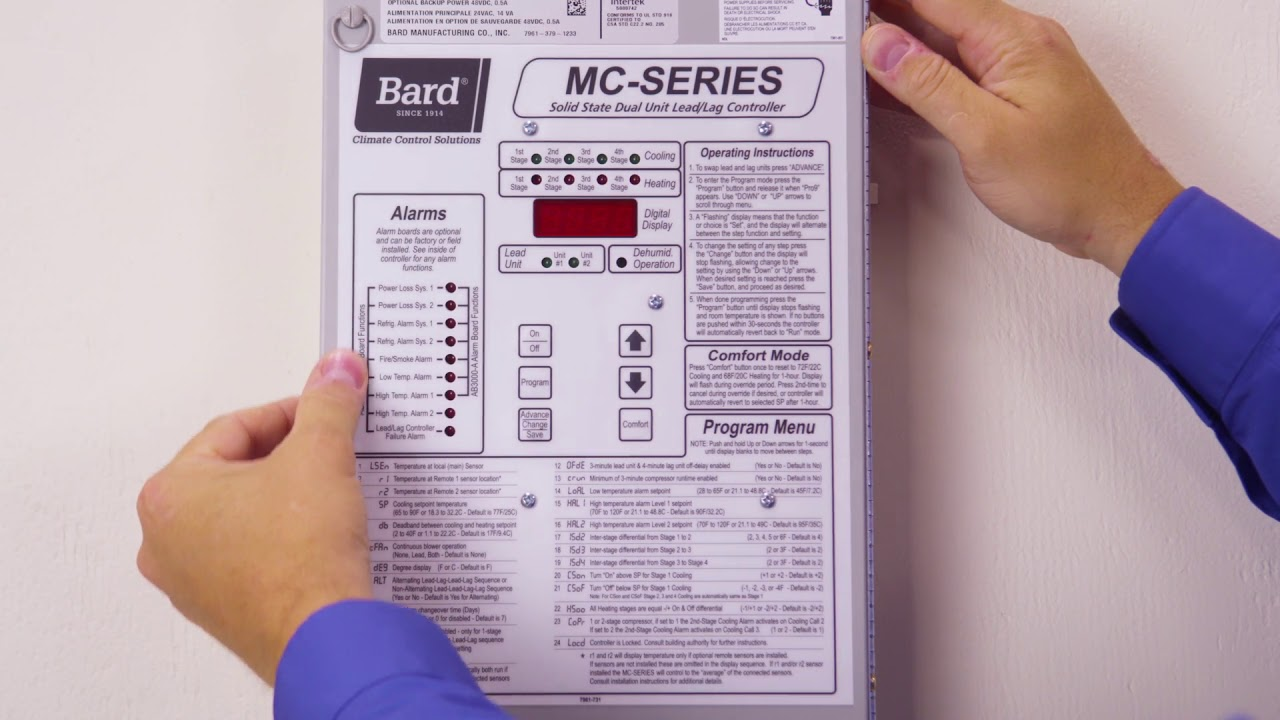 Bard Mc Series Lead Lag Controller Overview Youtube Wiring Diagrams