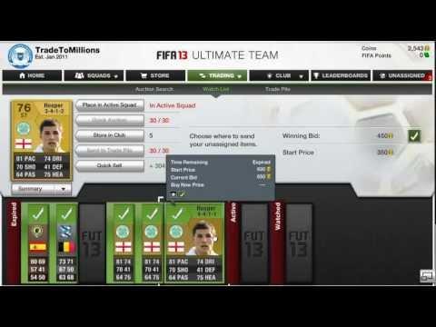 Fifa 13 TradeToMillions #1 Price locking!!