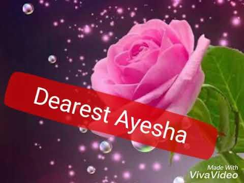Ayesha Happy Birthday 2018 Youtube