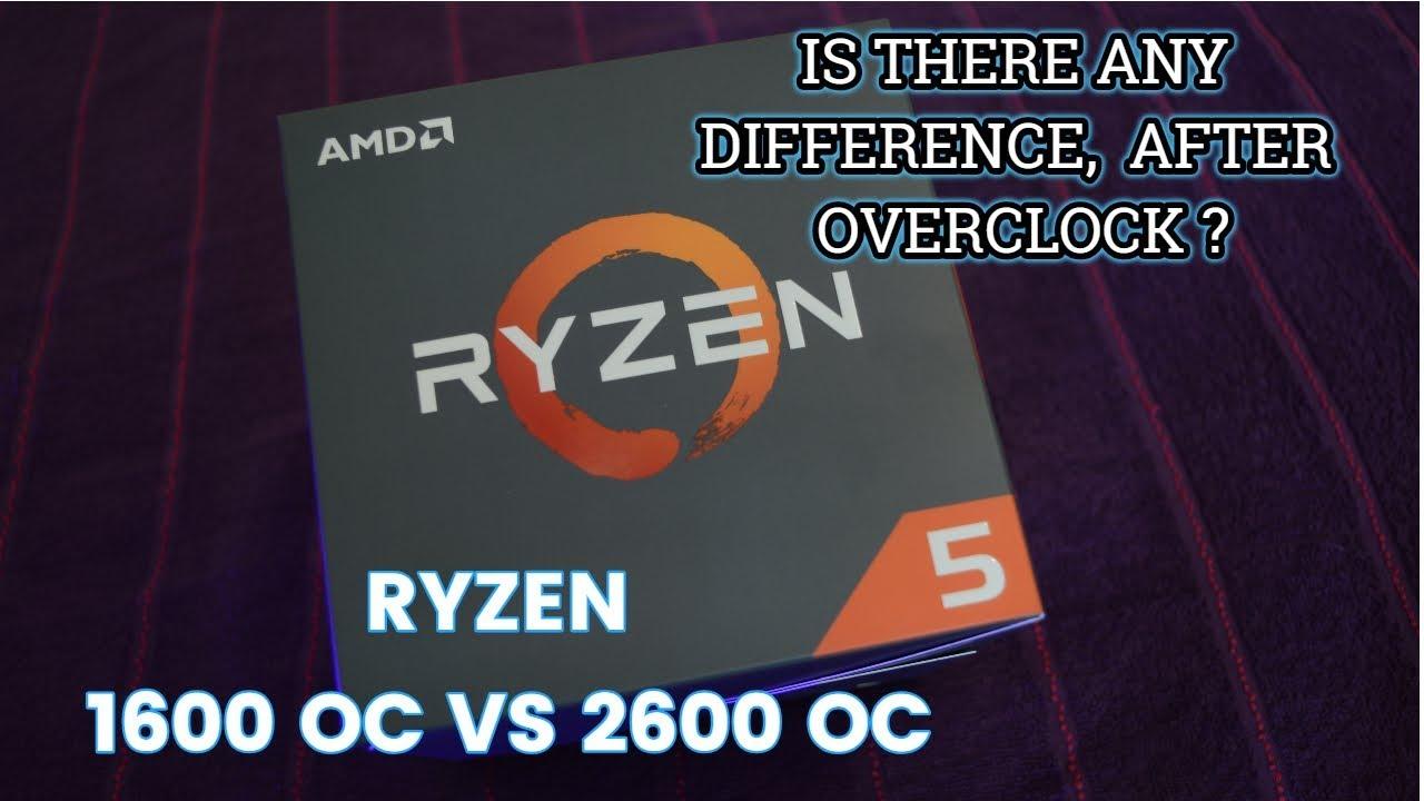 Ryzen 5 2600 OC (overclock) vs 1600 OC | Gaming and Productivity benchmarks - YouTube