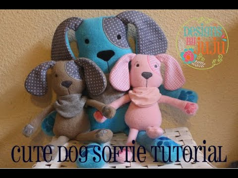 Cute Dog Softie In The Hoop Tutorial Designs by JuJu