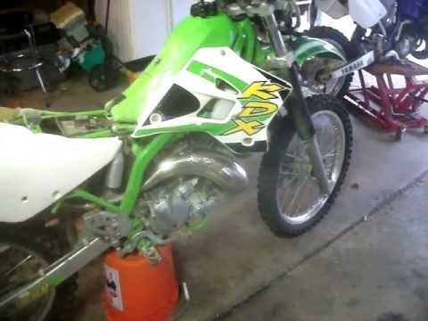 dirtbike air filter cleanning and other stuff!!!