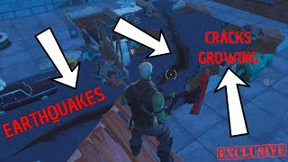 Fortnite Season 8 Earthquakes / Cracks In The Ground Growing Event